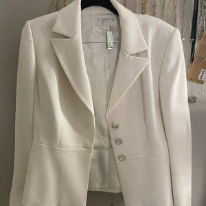 Liz Claiborne white skirt set with blazer
